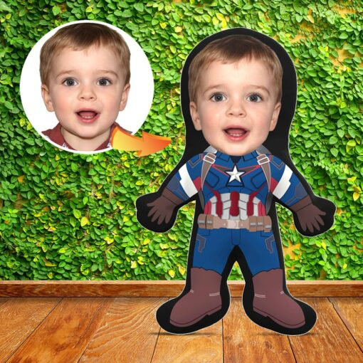 Mini Me Human Doll - Captain America